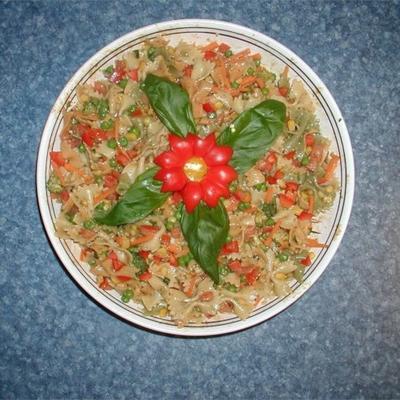 mosterd en veggie pastasalade