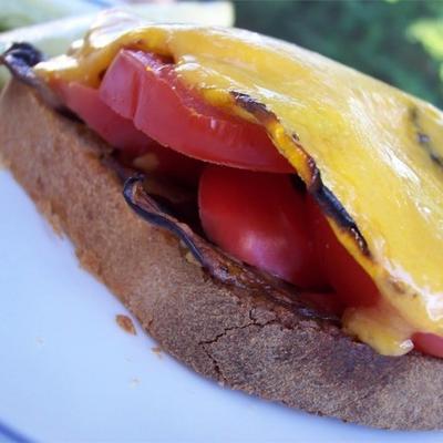 vegetarische sandwich met open gezicht