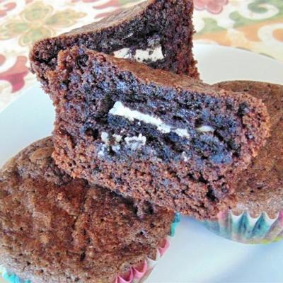 met oreo® gevulde brownies