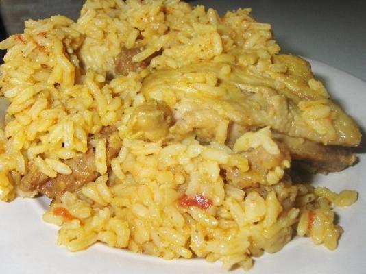 arroz con pollo (kip met rijst)