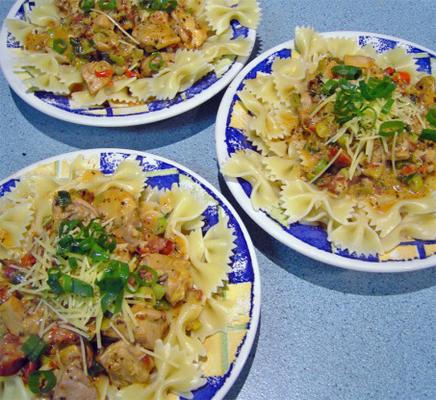 chili pesto kip pasta