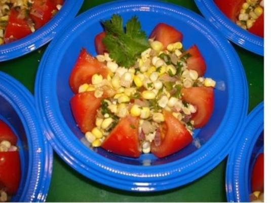 zomer tomatensalade met maïssalsa