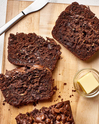 dubbel chocolade courgettebrood